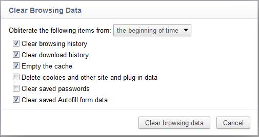 Delete history- Chrome