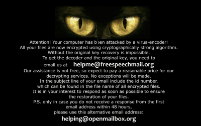 Remove Helpme@freespeechmail.org Ransomware