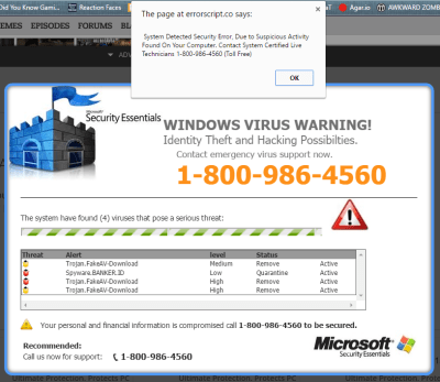 """delete """"Microsoft Official Support"""" pop-ups"""