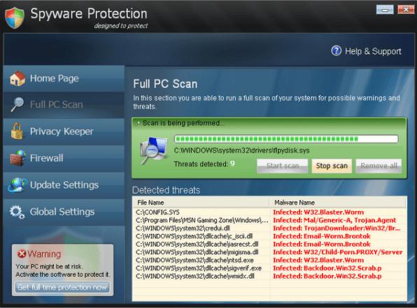 Remove Spware Protection