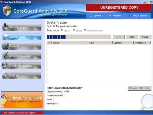 CoreGuard Antivirus 2009