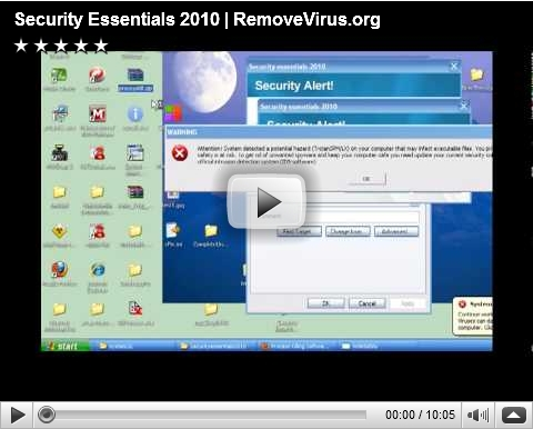 Security Essentials 2010 Removal video