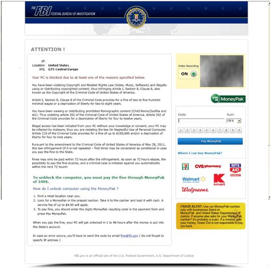 FBI Greendot MoneyPak