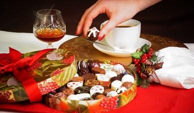 Check back for seasonal goodies like this Christmas box of delicious chocolates!