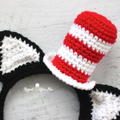 Crochet Cat in the Hat Headband