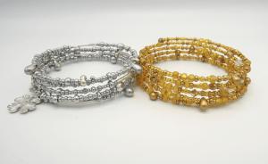 silver and gold bracelets