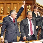 Presidente de la Asamblea Nacional: tres veces traidor a la patria así lo define la constitución, ver artículo Nro 129