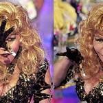 El característico atuendo de la artista no faltó en el show caraqueño.