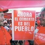 trabajadores de Cementos de venezuela (ex Cemex) se declararon en emergencia debido a que no les han cancelado las deudas por pasivos laborales.