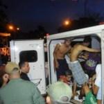 """Los internos heridos fueron llevados a centros asistenciales para recibir la """"atención"""" médica requerida."""