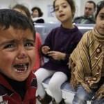 Niños sirios de familias refugiadas en Jordania, en la sede de Acnur en Ammán.