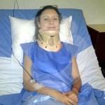 Carla Angola estable tras sufrir un accidente de tránsito. Conductor que la chocó se dio a la fuga.