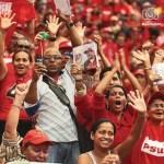 El PSUV continúa en campaña con actos bautizados como solidaridad con Chávez. El de ayer se hizo en Tucupita.