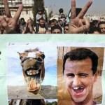 Manifestación de refugiados sirios contra Assad en Jordania