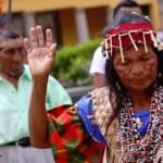 Chamanes de distintas etnias hicieron sus rituales por la salud del Presidente en la Plaza O'Leary de Caracas.