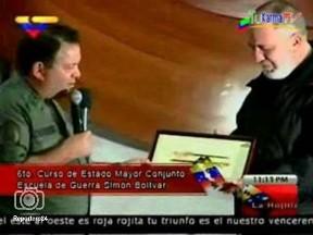 """Un reconocimiento """"devaluado"""". Replica de la espada de Bolívar."""