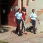 """Jimena Araya en la sede del Cicpc Aragua,  """"Espero salir pronto"""" las compañeras de celda de """"Rosita"""" presentaron está semana conjuntivitis."""