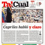 Tal Cual Capriles hablo y claro