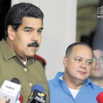 Maduro y Cabello se mostraron cordiales en Miraflores frente a las cámaras de VTV