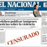 El Nacional denuncia censura