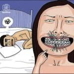 No hacer sexo oral con frenillos