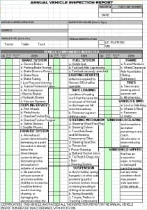Inspection Report Template