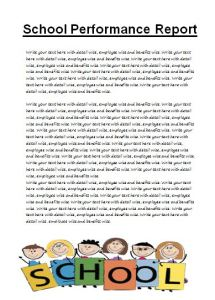School Performance Report Template