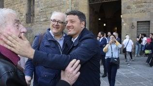 Renzi in piazza a Firenze