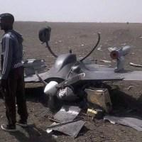 Drona chineza inarmata cu rachete prabusita in Nigeria!
