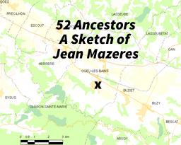 Map of Ogeu les Bains, France