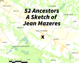 52 Ancestors Week 32:  A Sketch of Jean Mazeres