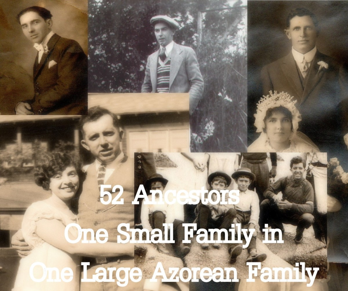 52 Ancestors Week 38:  One Large Azorean Family