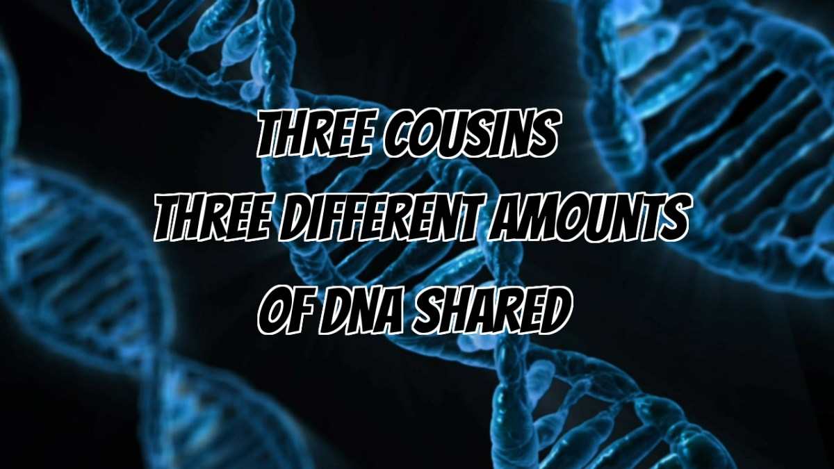 Three Cousins, Three Different Amounts of DNA Shared