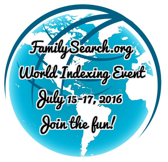 FamilySearch Worldwide Indexing Event is Here