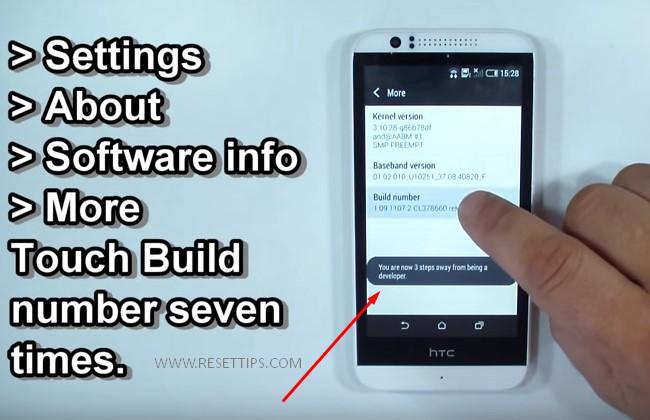 HTC Developer option 1