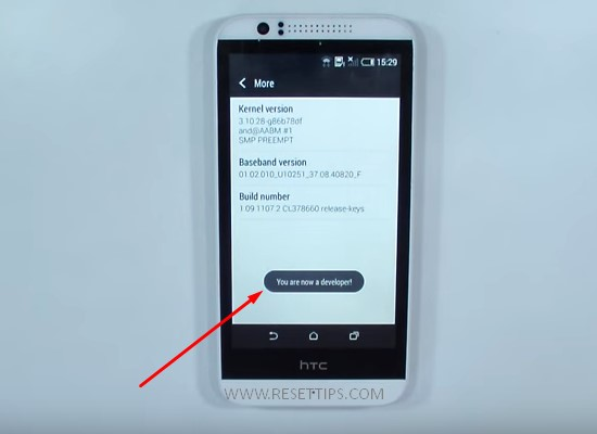 HTC Developer option 2