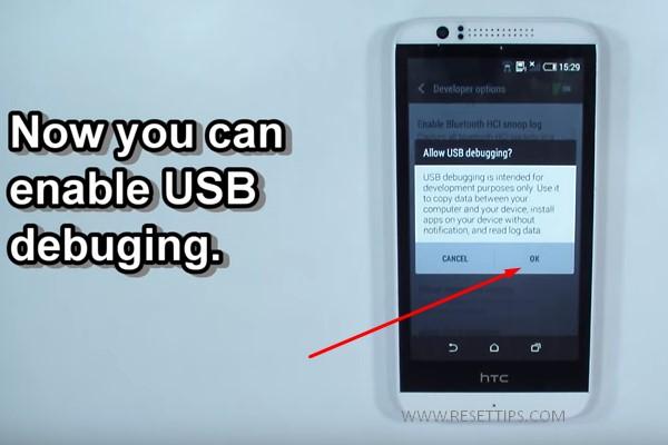 HTC USB Debuging