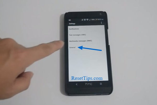 Factory reset htc one m7 - Background change