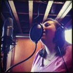 """Heidi Malcolm records vocals on """"God is so Good"""" at The Dragon Room, Lombard, IL."""