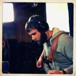 """Ivan Ishkov records bass on """"This Little Light of Mine"""" at The Dragon Room, Lombard, IL."""