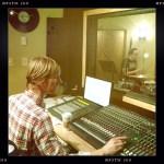 Jay Mathes records Aaron Boynton on drums at Shiloh Studio, Aurora, IL.