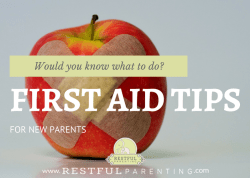 First Aid Tips for New Parents
