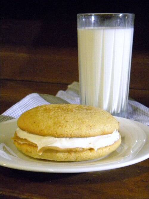 peanut butter whoopie pies are the perfect after school snack