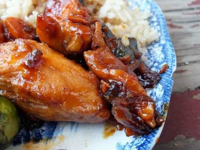 Dr Pepper Sticky Chicken Close-up| restlesschipotle.com