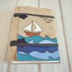 jurnal handmade piele - mare  valuri barca2