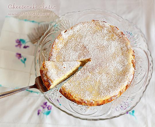cheesecake clasic, reteta cheesecake, prajitura cu branza