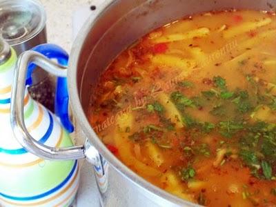 Preparare Ciorba ardeleneasca de fasole verde 8