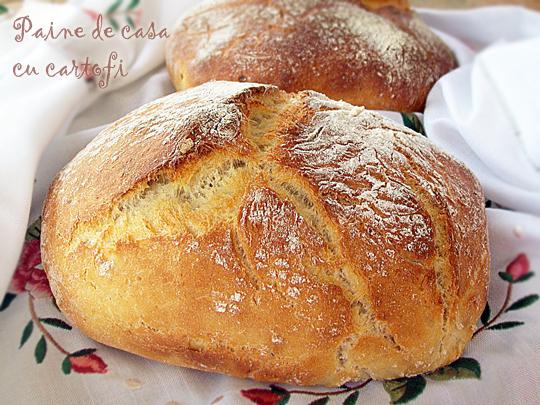 paine de casa cu cartofi, reteta paine de casa