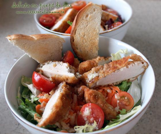 Preparare Salata cu piept de pui 4