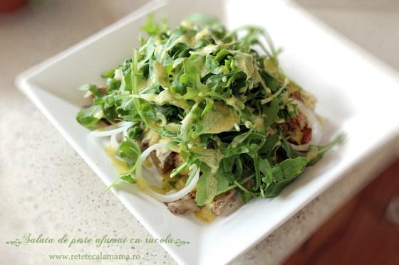 salata de peste cu rucola preparare 4'